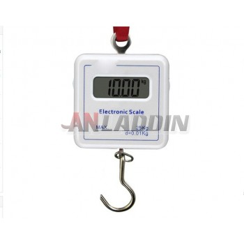 Portable electronic scale / portable hook scale