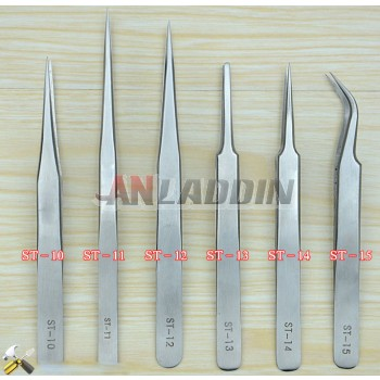 Precision stainless steel tweezers sets