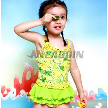 Printing children one-piece swimwear