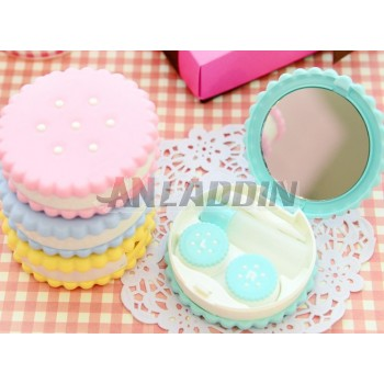 PVC contact lenses case with mirror