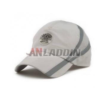 Quick-drying fluorescent men outdoor sports leisure blue baseball cap