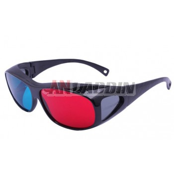 Red and blue 3d glasses for computer