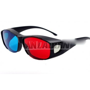 Red and blue 3d stereo glasses