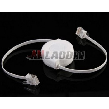 Retractable RJ45 interface network cable