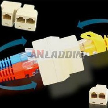 RJ45 cable connectors / Ethernet Splitter Connector Adapter