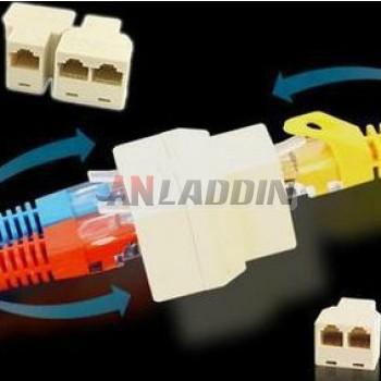 RJ45 cable connectors / Ethernet Splitter Connector Adapter
