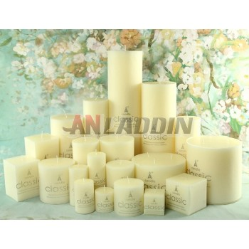 Romantic classic wedding candles