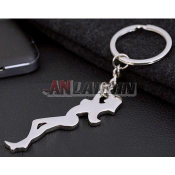 Sexy girl zinc alloy keychain