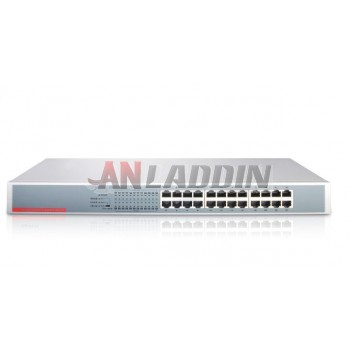 SG124 24 Port Gigabit Ethernet Network Switch / steel rack