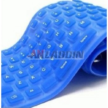 Silicone waterproof wired keyboard