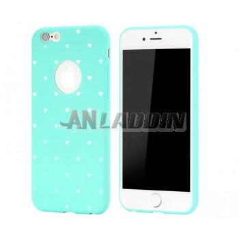 Simplicity cartoon silicone case for iphone 6 plus