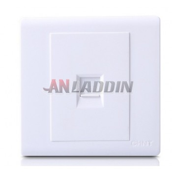 Single Interface Network Wall Plate White