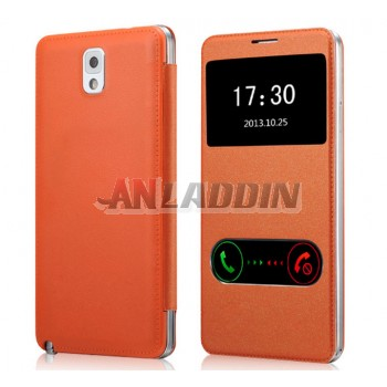 Smart leather case for Samsung Note3
