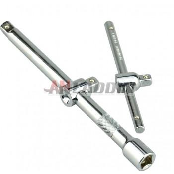 Socket wrench sliding extension bar