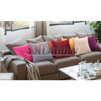 Solid color linen throw pillow