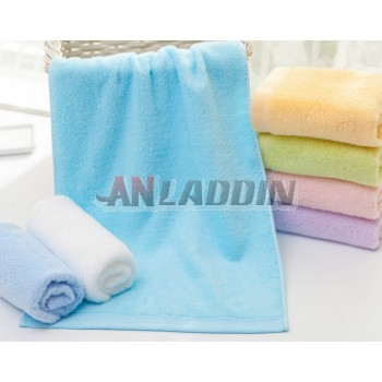 Solid color minimalist cotton towel