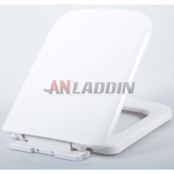 Square white toilet seat cover
