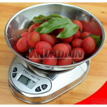 Stainless steel kitchen scale / household electronic scale 1g