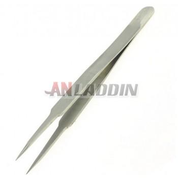 Stainless steel needle nose tweezers