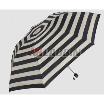 Striped UV protection sun umbrella