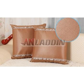 Summer sided mat rush pillow cover