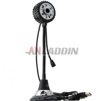 Tire-shaped Usb 8.1MP HD Webcam PC Camera with Microphone