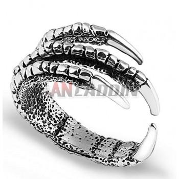 Titanium silver classic talons men's ring