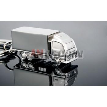 Truck zinc alloy keychain