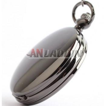 Tungsten steel black necklace watch
