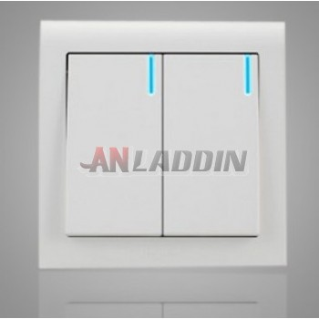 Two pairs of control Wall Plate with LED switch