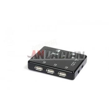USB converter hub splitter HUB + Multi Card Reader