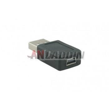 USB male to mini USB female adapter