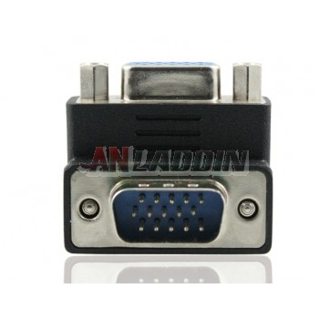 VGA Adapter Male to Female / 90 degree elbow