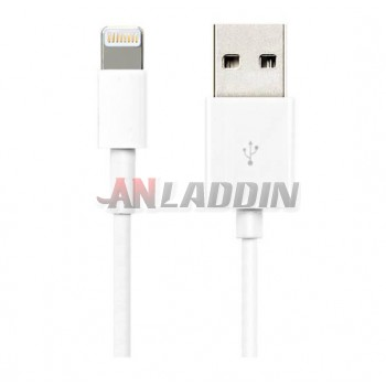 White 1M Data Charging Cable for iPhone 6 / Plus / iPhone5S / 5 / 5C / mini / mini2 / iPad4 / iPad Air