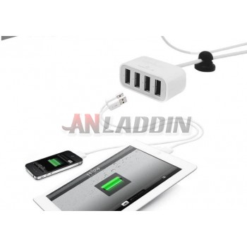 White four USB 4.2A charger for ipod iPhone5s ipad