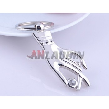 Woman's hand Zinc alloy keychain