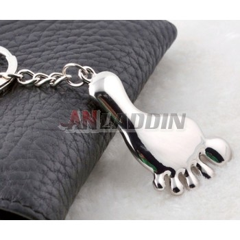 Zinc alloy barefoot keychain