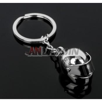 Zinc alloy helmet keychain