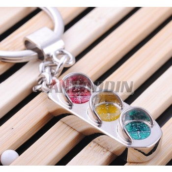 Zinc alloy traffic lights keychain