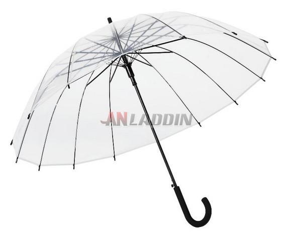 097020e97fee Curved handle semi automatic transparent umbrella - Anladdin.com
