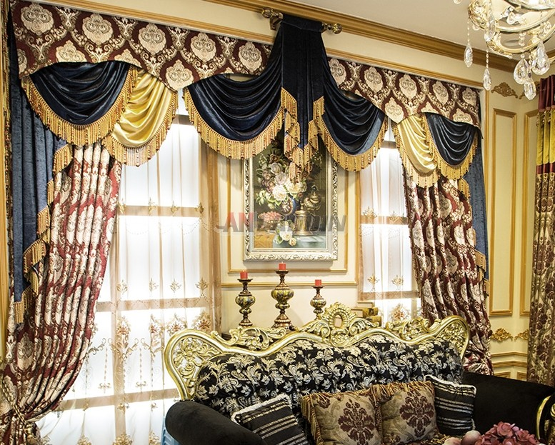 European style luxury embroidered curtains for European inspired home decor