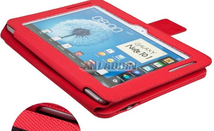 leather case with Bluetooth Keyboard for Samsung Galaxy note10.1 n8000 / n8010