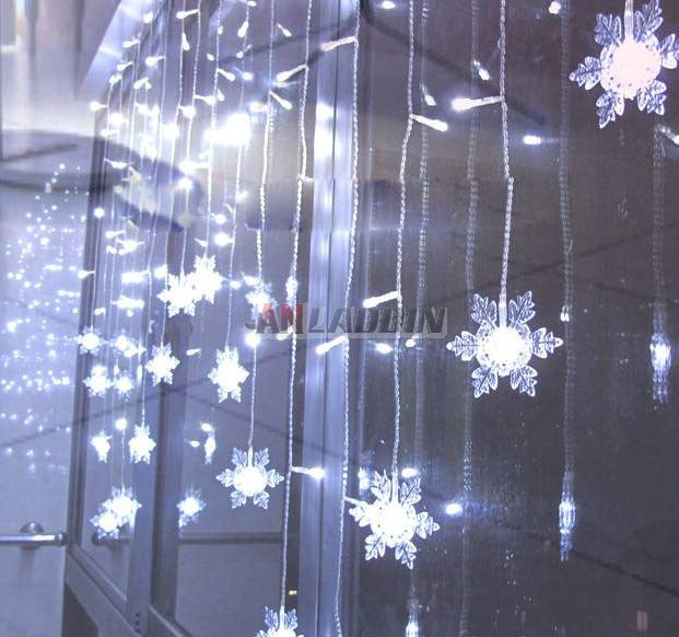 Snowflake Curtains 104 Led Holiday Lights Anladdin Com