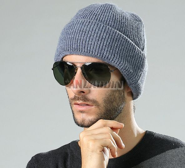Winter men s cashmere knit hat - Anladdin.com 528e7fff3a2f