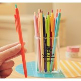 Push style colorful gel pen