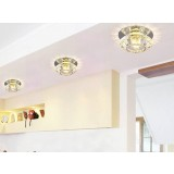 1-3W colored round crystal LED ceiling lights