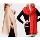 100% wool pure color female scarf