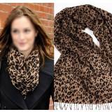 100% wool winter fashion Leopard female scarf