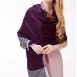 100% wool winter fashion plaid female scarf