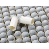 100pcs white plastic + leather billiard cue tips